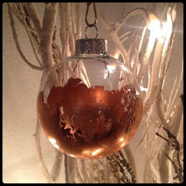 Gilded Ornaments DIY