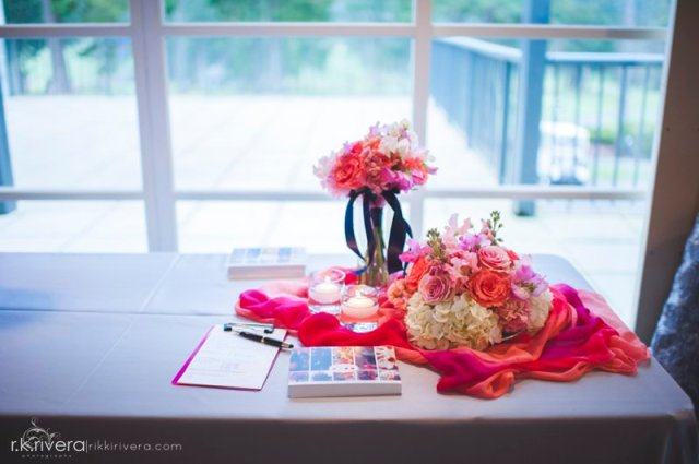 Coral Flowers by Jen's Blossoms || Photo by Rikki Rivera Photography