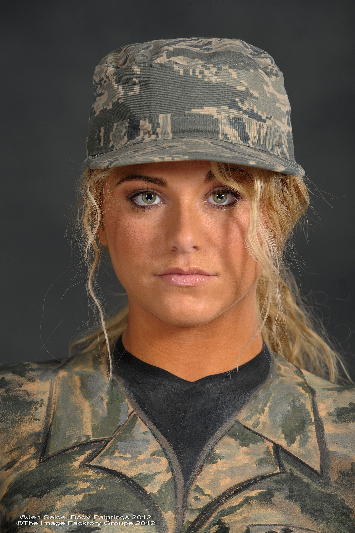 Military Body Paint Gallery By Professional Body Painter Jen Seidel