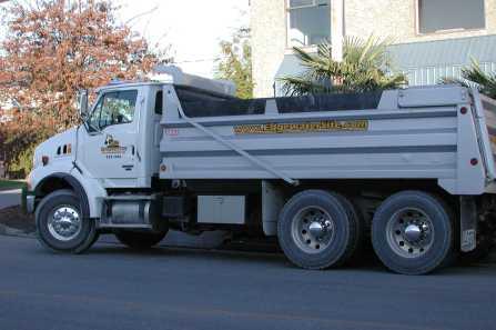 vehicle lettering - Dump Trucks