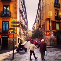 Narrow road in Toledo