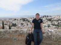 Overlooking the Albayzin.