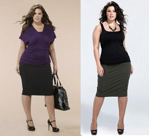 Одежда для полных женщин Идеальная юбка Фото