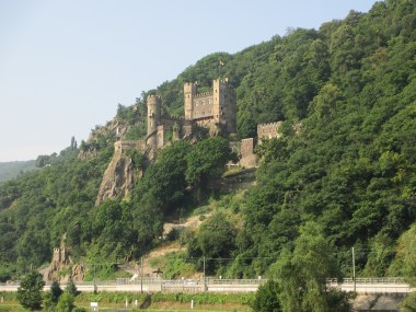 Castle along the Rhine River, Germany