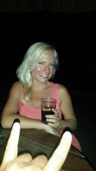 Grabbing a drink at Kataka in Crikvenica