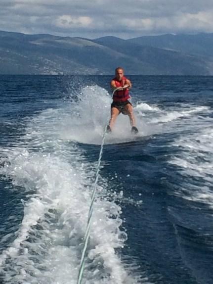 Miloš' first time skiing!