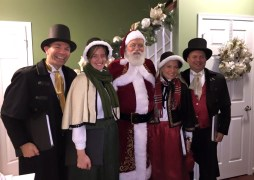 Olde Towne Carolers provided Santa AND carolers for a private party in South Philly