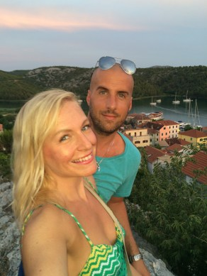Selfie from atop Skradin