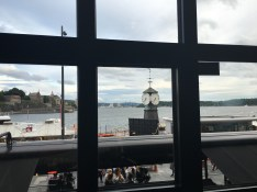 View from dinner at Olivia on Aker Brygge