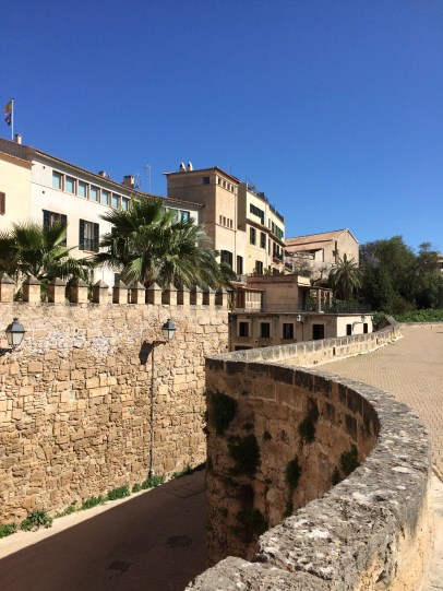 Walking along the city walls