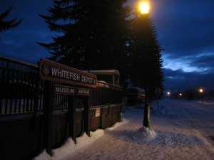 Whitefish depot at dawn