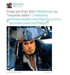 Mitt Romney pirate