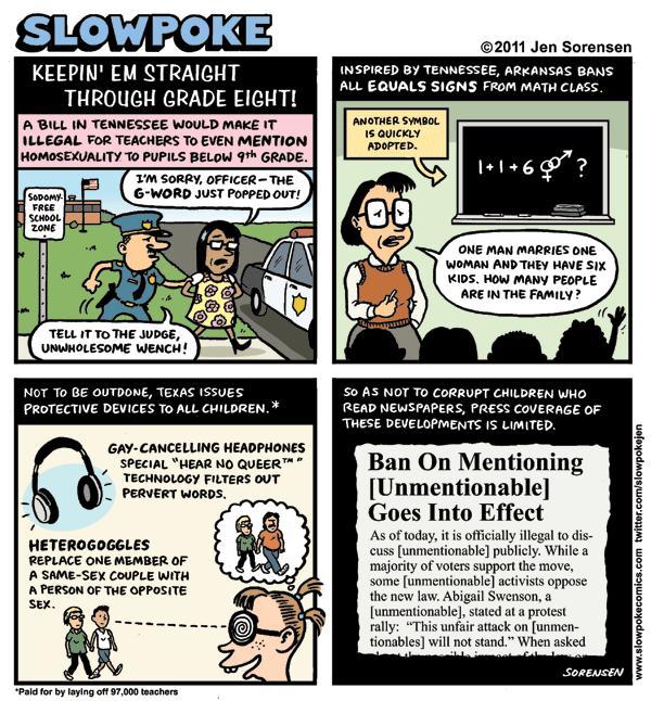 "This Week's Cartoon: ""Keepin' Em Straight Through Grade Eight!"""