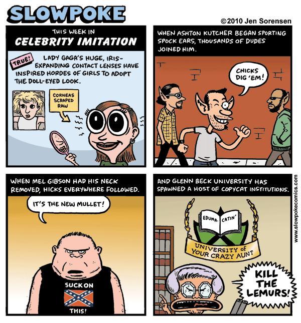 "This Week's Cartoon: ""This Week in Celebrity Imitation"""