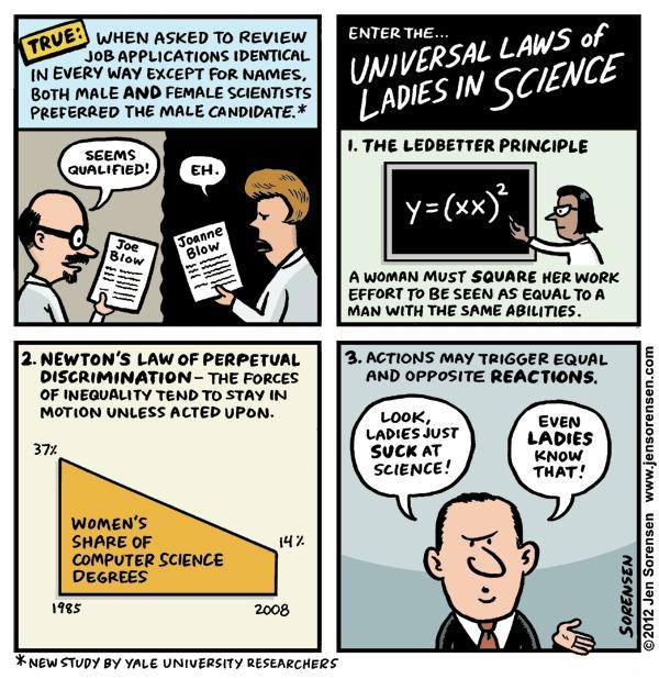 This Week's Cartoon: The Universal Laws of Ladies in Science