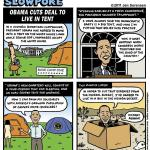 "This Week's Cartoon: ""Obama Cuts Deal to Live in Tent"""