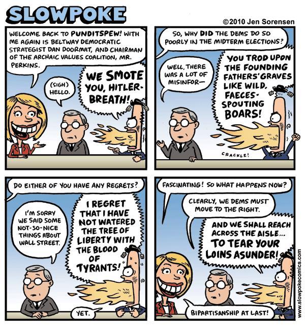 This Week's Cartoon: Post-Election Punditspew 2010
