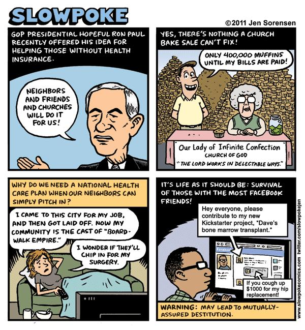 This Week's Cartoon: Ron Paul's Muffin-care