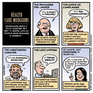 cartoon about premature critics of Obamacare