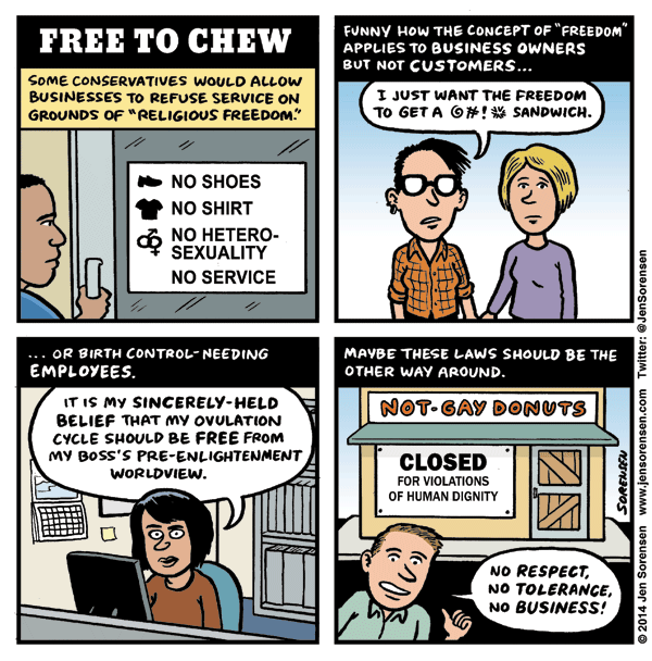 Free to Chew: The other side of religious freedom laws
