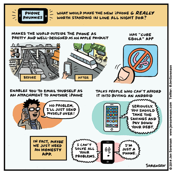 Phone Phunnies: What Would Make the iPhone 6 Really Cool