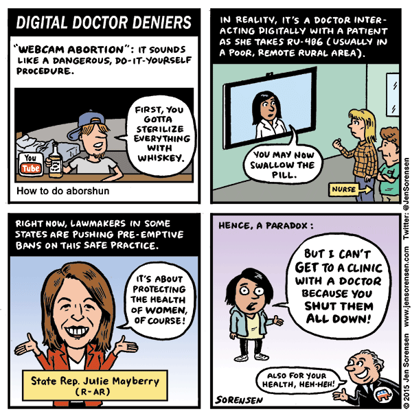 """Digital Doctor Deniers: The truth about so-called """"webcam abortions"""""""