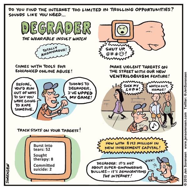 Degrader, the wearable insult watch