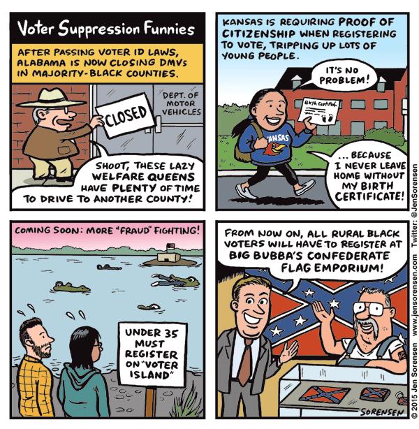Voter Suppression Funnies
