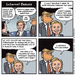 Cartoon: Hillary's internal debate