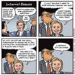 Cartoon: Hillary's internal debate