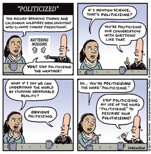 """The """"politicization"""" game"""