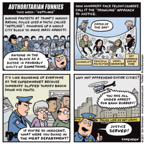 Authoritarian Funnies, Kettling Edition