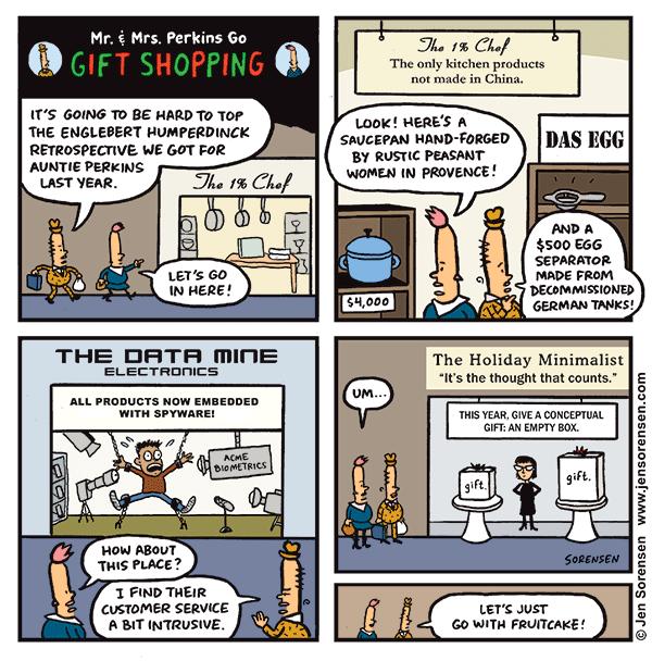Cartoon Flashback: Mr. and Mrs. P Go Gift Shopping