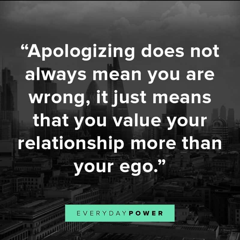 Apologize, forgive, make up,