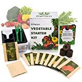 KORAM Vegetable Garden Starter Kit - 10 Organic Salad Seeds Organic Growing Kit DIY Gardening Starter Set with Everything a Gardener Needs for Growing Tomatoes Peppers Broccoli Cucumber Beets Kale  by KORAM  4.3 out of 5 stars    224 ratings     | 47 answered questions  Price:$24.99  & FREE Returns