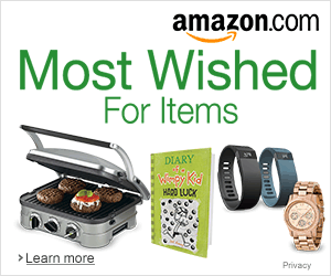 Most wished for items.  Use that Christmas gift card for something you've been wishing for.