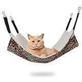 EONMIR Cat Hammocks for Cage, Soft Pet Bed Fit Ferret, Kitten, Puppy, Small Dog (Leopard)  by EONMIR