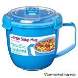 Sistema 21141 To Go Collection Soup Mug, Large, Varied, 1 count  bySistema