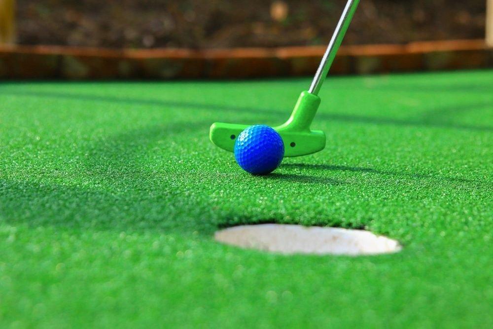 Play miniature golf
