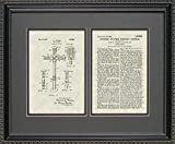 Traffic Signal Patent Art Wall Hanging | Construction Framed Print 16x20  byPatentsAsArt