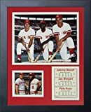 "Johnny Bench, Joe Morgan & Pete Rose 11"" x 14"" Framed Photo Collage by Legends Never Die, Inc.  by Legends Never Die"