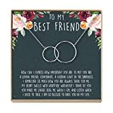 Dear Ava  Best Friend Necklace - Heartfelt Card & Jewelry Gift for Birthday, Holiday, More