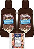 Smucker's Magic Shell Ice Cream Topping, Chocolate Flavor, 7.25 oz Bottles (Pack of 2) with By The Cup Rainbow Sprinkles  by By The Cup