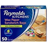 "Reynolds Kitchens Wax Paper Sandwich Bags - 6x7-13/16"", 50Count  by Reynolds"