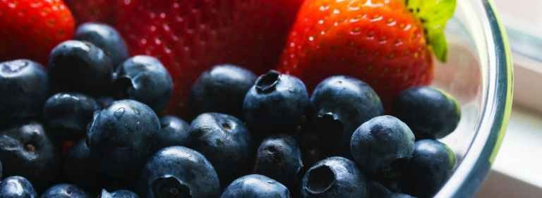 Red, Blue, & Cheesecake Fruit Salad