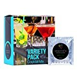Craftmix Cocktail Mix Variety Pack Mojito, Mango Margarita, Whiskey Sour Flavors, Skinny, Natural, Keto, Gluten Free, Low Carb, Low Sugar Mixer For Liquor and Non Alcoholic Mocktails, 10 Drink Packets  by Craftmix