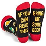 Lavley  Lavley - If You Can Read This Bring Me Novelty Socks - Funny Dress Socks For Men and Women