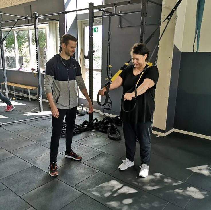 Klient får personlig træning