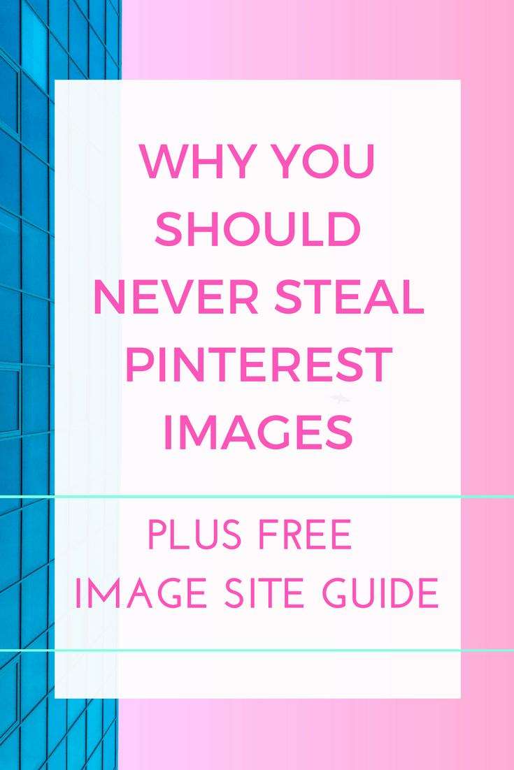 Why you should NEVER steal any images off Pinterest and use them on your own sites to promote your own content. It's illegal and you can get sued. There's a great FREE guide included here too, on all the websites offering Pinterest friendly, copyright free images you are free to use.