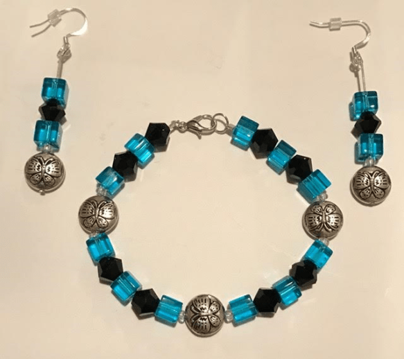 Turquoise & Black set
